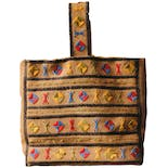 70's Embroidered Woven Tote Bag