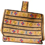 another view of 70's Embroidered Woven Tote Bag