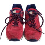 90's Red Suede Chunky Lace Up Sneakers by Tommy Hilfiger Athletics