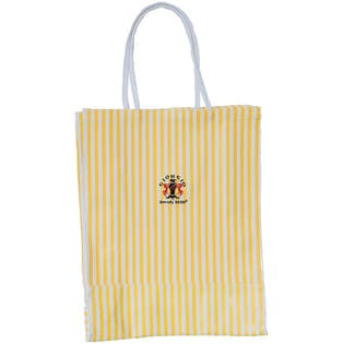 90's Yellow and White Striped Tote by Giorgio Beverly Hills