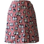 60's Red Gingham Panda Printed Skort