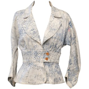 Denim Blazer Jacket by Judi Rosen