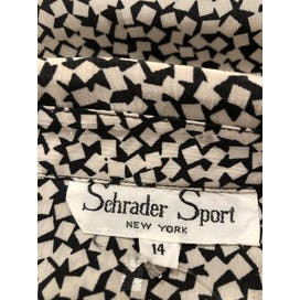 70's Square Print Shirt Dress by Schrader Sport