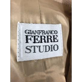 90's Beige Wool Suit by Gianfranco Ferre Studio