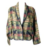 Abstract Cotton Knit Blazer by New Identity