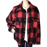 80's Buffalo Plaid Wool Jacket by Woolrich