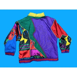 90's Colorful Multi Pattern Retro Jacket