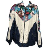 Multicolor Graphic Zip-up Windbreaker by Outbrook