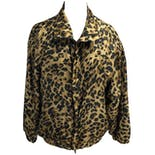 Cheetah Print Zip Up Windbreaker by Coaco