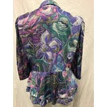 another view of 80's Floral Peplum Multicolor Blazer by Jenny