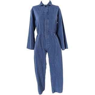 Cobalt Coveralls with Elastic Waist by Tocontap