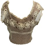 another view of 60's Crocheted Lace Cropped Blouse