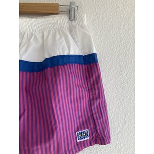 Purple White and Blue Surf Shorts by Laguna