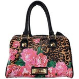 another view of Leopard Print Purse with Pink Flowers by Betsey Johnson
