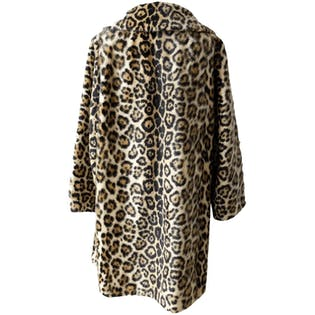 Leopard Print Double Breasted Fur Coatby Maple Furriers