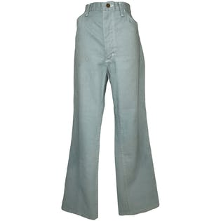 70's Light Blue Denim Flared Pants by Wrangler