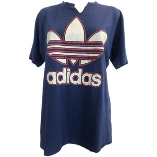 Red, White and Blue Adidas Logo T-Shirt by Adidas