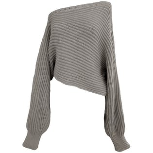 Asymetrical Off The Shoulder Knit Sweater by Alexander Wang