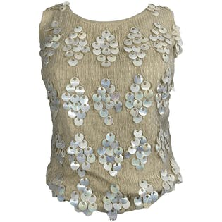 60's Sleeveless Wool Sequin Top by Crown Rose Originals