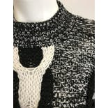 another view of Black and Grey Knit Sweater by La Meilleure