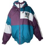 Mighty Ducks Hooded Puffer Jacket by Fans Pic