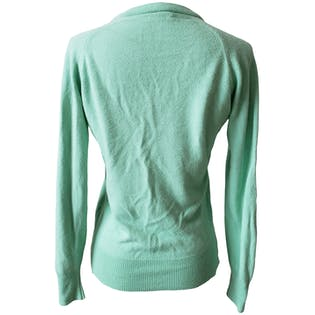 Mint Green V-Neck Sweater