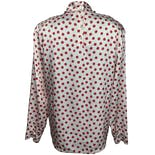 another view of Mock Neck Red Polka Dot Blouse by Miss Sophisticates By Pendleton