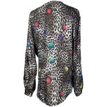 another view of Multi Dimensional Cheetah Print Button Down Blouse by Notations