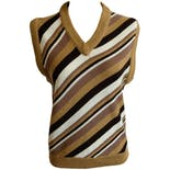 Multi Color Stripe Sweater Vest by Montgomery Ward