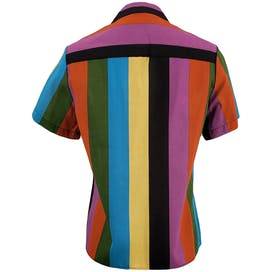 Multicolor Striped Button Up Top by Jon Woods