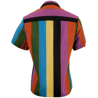 Multi Color Striped Button Up Top by Jon Woods