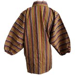 another view of Multi Color Striped Kimono