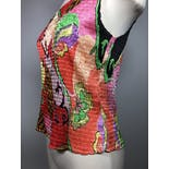 another view of Multicolor Abstract Micro Pleated Stretch Tank by Alberto Makali