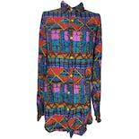 Multicolor Aztec Printed Blouse by Cotler