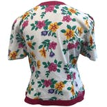 another view of Multicolor Floral Print Short Sleeve Blazer by M.H.M. Melissa Harper