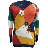 80's Multicolor Sequin and Jeweled Knit Sweater by Cervelle
