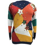 80's Multicolor Sequin and Jeweled Knit Sweater
