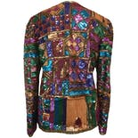 another view of 80's Multicolor Silk Sequin Jacket by Laurence Kazar