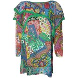 Multicolor Silk Psychedelic Blouse by Diane Tres