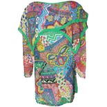 another view of Multicolor Silk Psychedelic Blouse by Diane Tres