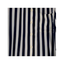 Navy and White Striped Button Up Blouse
