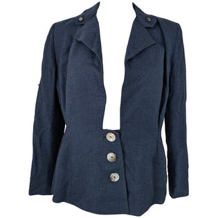 50's Three Buttons Blazer with Rectangular Neckline by Moordale