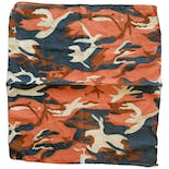 Navy and Coral Camo Bandana