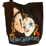 another view of 80's New Orleans Novelty Tote Bag