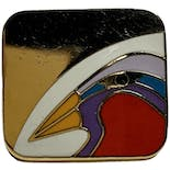 another view of Nile Bird Square Earrings by Laurel Burch