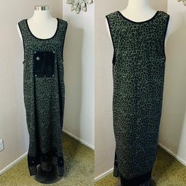 Green Giraffe Print Sleeveless Maxi by Nina Piccalino