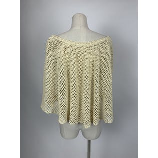 Off-White Crochet Capelet