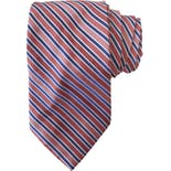 Orange and Blue Diagonal Striped Tie by Croft & Barrow