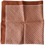 Burnt Orange Square Scarf by Delamare