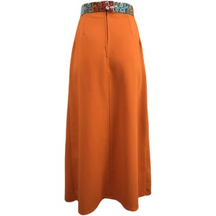 Orange Maxi with Embroidered Band